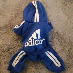 Adidog Blue Tracksuit for dogs